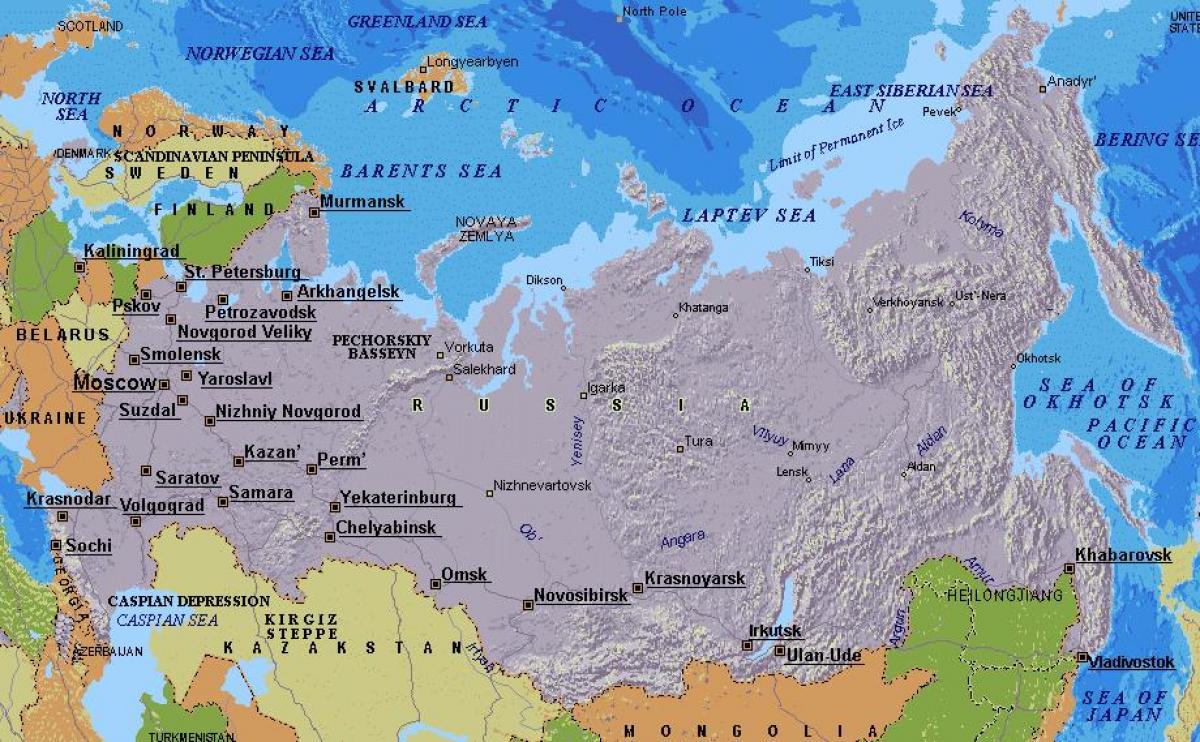 Cartina Siberia Russia.Mosca Russia Mappa Cartina Di Mosca In Russia Russia